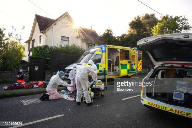 Ambulance and air ambulance crews from South Central Ambulance Service operated by South Central Ambulance Service NHS Foundation Trust stabilise a...