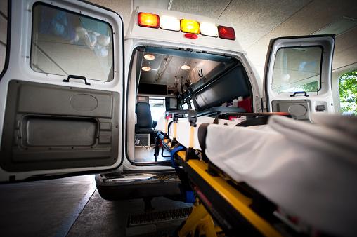 Ambulance and Gurney 183418533