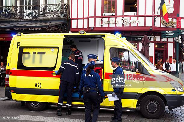 Ambulance and police in Brussels