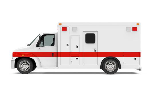 Ambulance Car Isolated 932392982