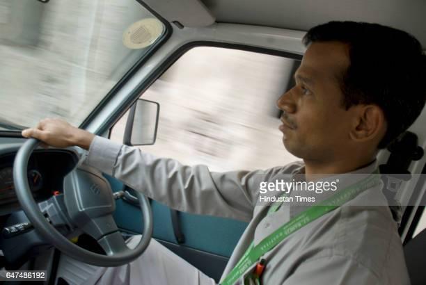 Ambulance Driver Sameer Tatkare at Raheja Hospital in Mahim