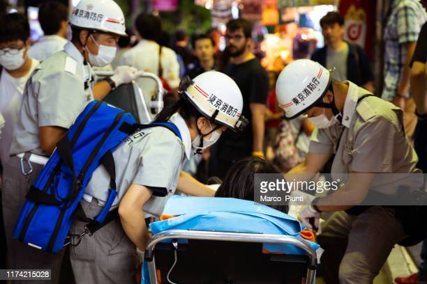 ambulance first aid in japan - hot nurse stock photos and pictures