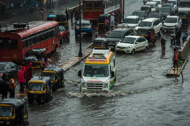 IND: Roads Waterlogged, Rail Services Hit As Heavy Rain Lashes Mumbai