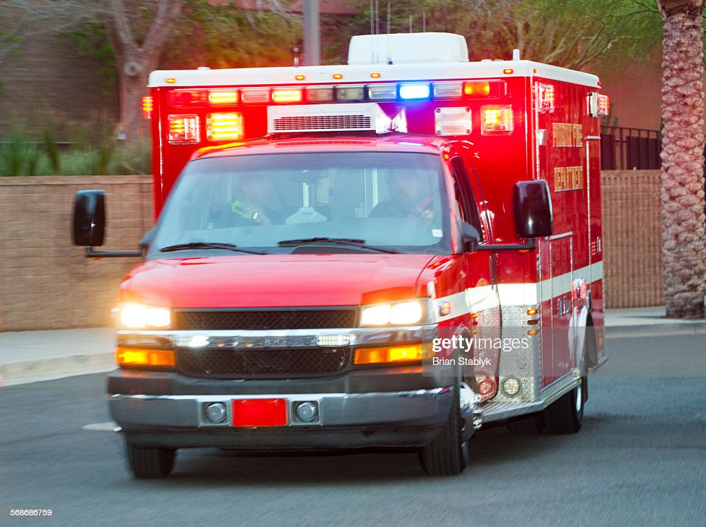 Ambulance in emergency : Stock Photo