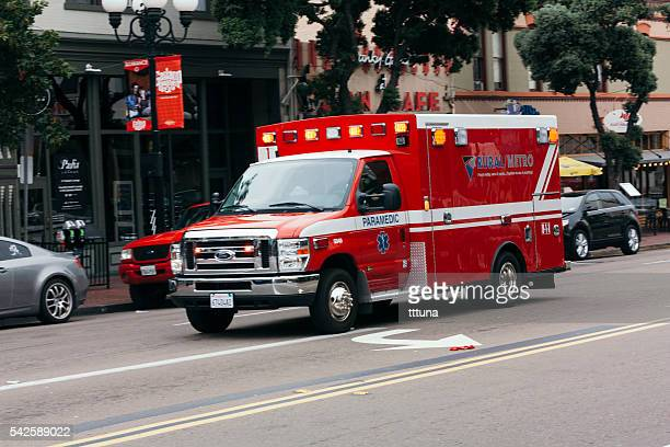 Ambulance in Gaslamp quarter