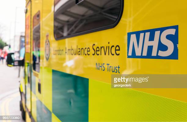 nhs ambulance in london - nhs stock photos and pictures