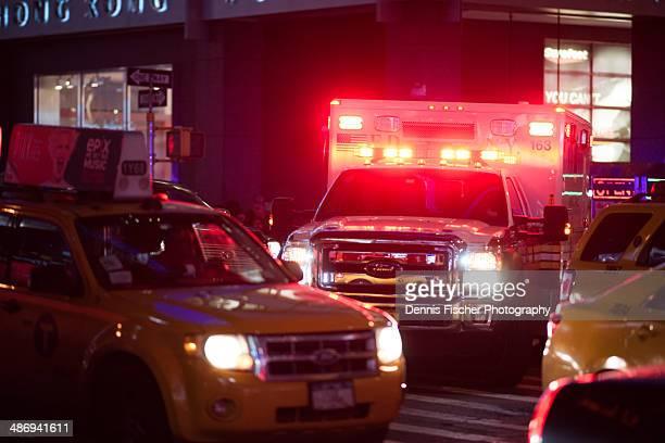 Ambulance in NYC traffic