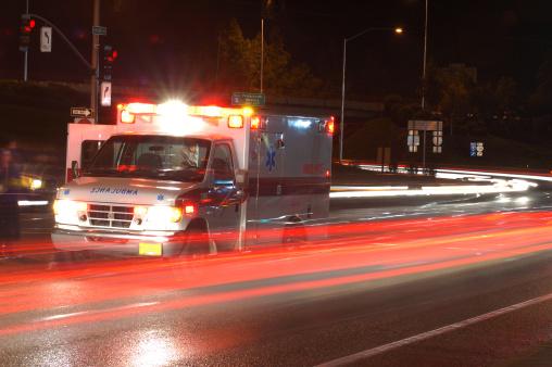 Ambulance in traffic 118616122