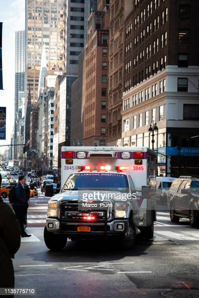 ambulance in united states - rescue worker stock pictures, royalty-free photos & images