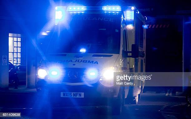 A ambulance leaves the Accident and Emergency department of the Bristol Royal Infirmary on January 10 2017 in Bristol England According to documents...