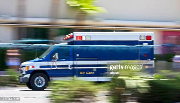 Ambulance, motion blur.