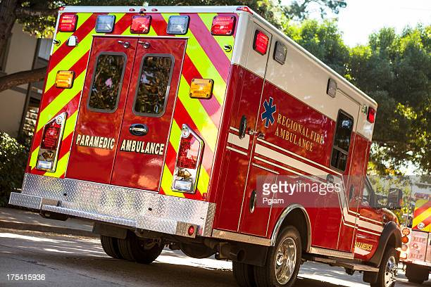 Ambulance on the street in an emergency