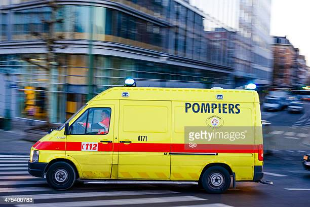 ambulance - belgium stock pictures, royalty-free photos & images