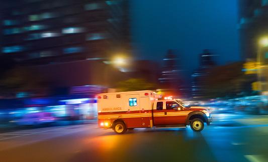 Ambulance speeding in New York 518979277