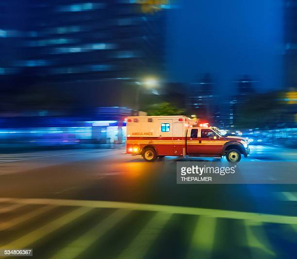 Ambulance speeding in New York