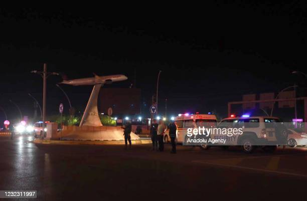 Ambulances and security officials are being sent to the site after the Erbil International Airport in northern Iraq was targeted by a missile, the...