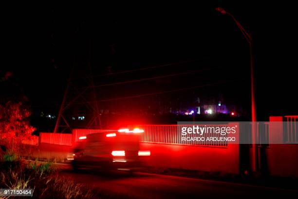 Ambulances are seen at the entrance of an electric substation after an explosion and fire was reported and caused a black out in parts of San Juan on...