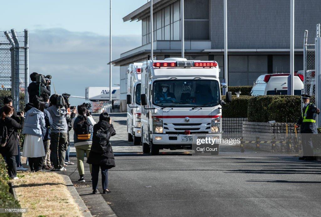 Japan Repatriates Citizens From Wuhan Amid Coronavirus Outbreak : ニュース写真