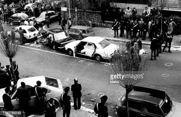Ambush And Kidnapping Of Aldo Moro. Via Mario Fani. Rome. 16 March 1978.