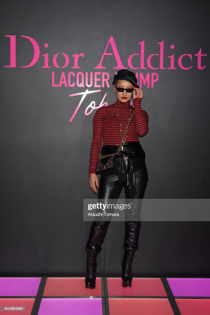 Ambush Creative Director YOON attends the Dior Addict Lacquer Plump Party at 1 OAK on April 10, 2018 in Tokyo, Japan.