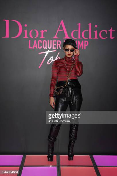Ambush Creative Director YOON attends the Dior Addict Lacquer Plump Party at 1 OAK on April 10 2018 in Tokyo Japan