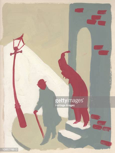 Ambush in an alley circa 1950 Artist Shirley Markham