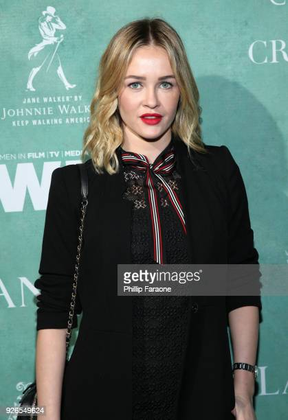 Ambyr Childers attends the 11th annual celebration of the 2018 female Oscar nominees presented by Women in Film at Crustacean on March 2 2018 in...