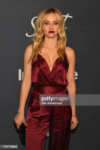 Ambyr Childers attends The 2020 InStyle And Warner Bros 77th Annual Golden Globe Awards PostParty at The Beverly Hilton Hotel on January 05 2020 in...