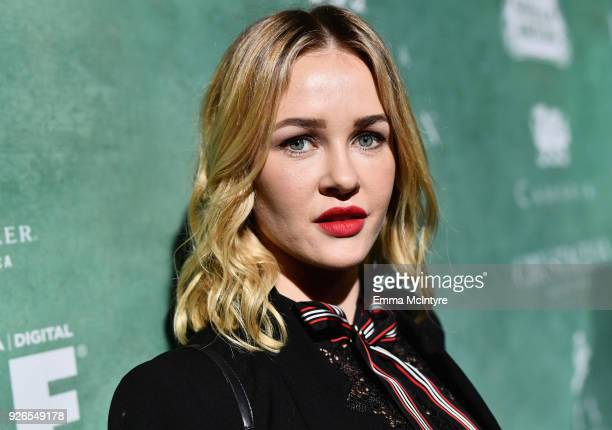 Ambyr Childers attends Women In Film PreOscar Cocktail Party presented by Max Mara and Lancome with additional support from Crustacean Beverly Hills...