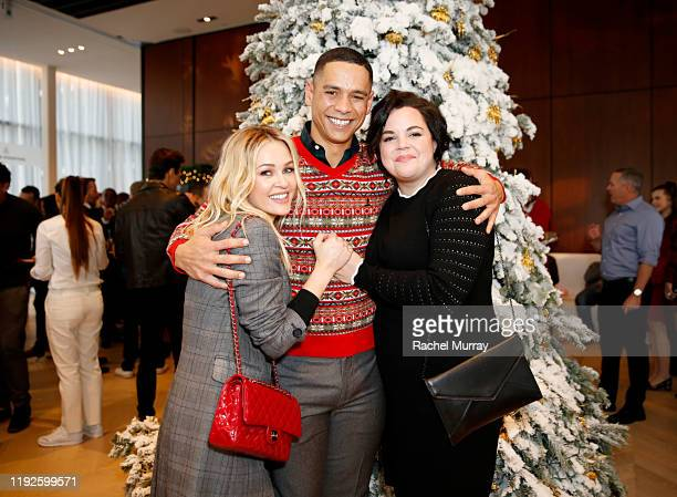 Ambyr Childers Melanie Field and Charlie Barnett attend the Brooks Brothers and St Jude Children's Research Hospital Annual Holiday Celebration at...