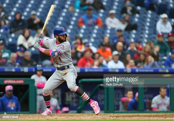 Amed Rosario of the New York Mets in action against the Philadelphia Phillies in a game at Citizens Bank Park on May 13 2018 in Philadelphia...