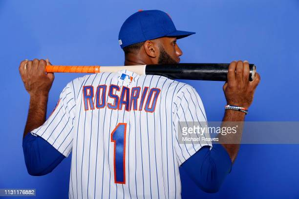 Amed Rosario of the New York Mets poses for a photo on Photo Day at First Data Field on February 21 2019 in Port St Lucie Florida