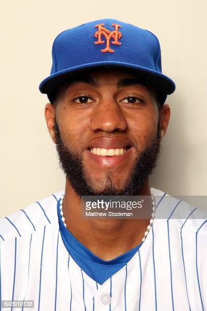 Amed Rosario poses for a portrait during New York Mets Photo Day at Tradition Field on February 22 2017 in Port St Lucie Florida