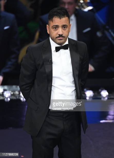 Amedeo Grieco on stage during the second night of the 69th Sanremo Music Festival at Teatro Ariston on February 06, 2019 in Sanremo, Italy.