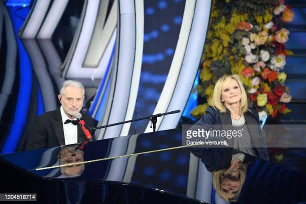 Amedeo Minghi and Rita Pavone attend the 70° Festival di Sanremo at Teatro Ariston on February 06 2020 in Sanremo Italy
