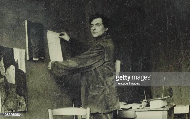 Amedeo Modigliani in his studio 1910s Private Collection