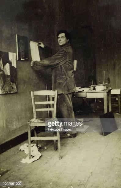 Amedeo Modigliani in his studio circa 1915 Found in the Collection of Musée de l'Orangerie Paris