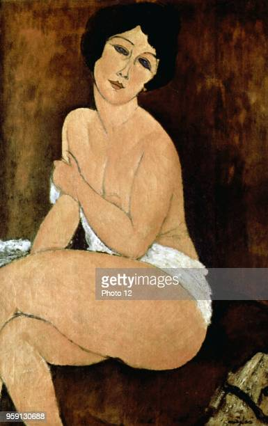 Amedeo Modigliani Italian school Nude Seating on a Sofa 1917 Oil on canvas Private collection