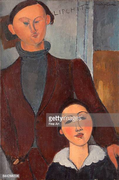 Amedeo Modigliani , Jacques and Berthe Lipchitz oil on canvas, 81.3 x 54.3 cm , Art Institute of Chicago