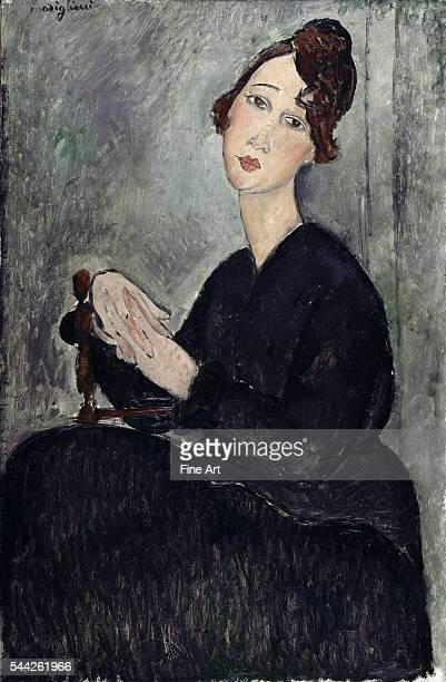 Amedeo Modigliani , Portrait of Dedie 92 x 60 cm, oil on canvas, Musée National d'Art Moderne, Centre Georges Pompidou, Paris.