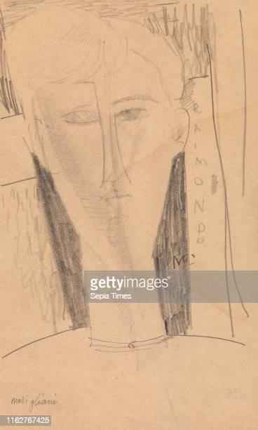 Raimondo Amedeo Modigliani Graphite on newsprint paper Overall 8 7/16 x 5 1/16 in