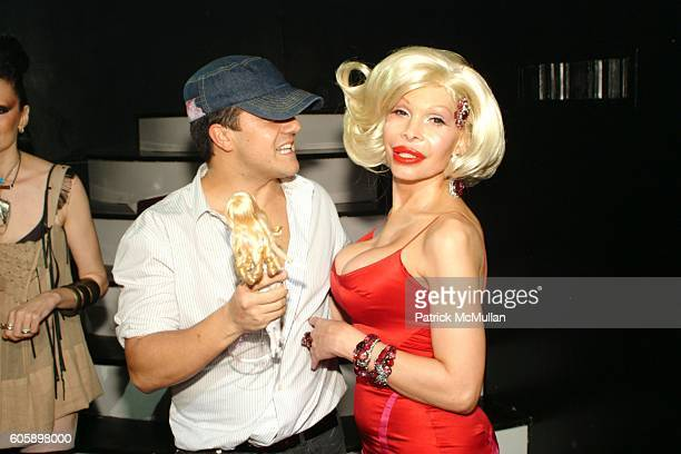 Amedeo Scognamiglio and Amanda Lepore attend AMANDA LEPORE DOLL After Party at Happy Valley on April 11 2006 in New York City