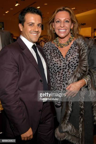 Amedeo Scognamiglio and Babe Rizzuto attend FARAONE MENNELLA at Richards of Greenwich for DebRA Bracelet Unveiling at Richards on October 17 2009 in...