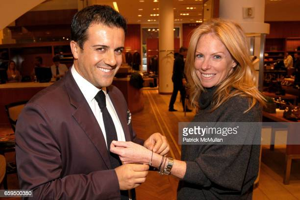 Amedeo Scognamiglio and Karen Misisco attend FARAONE MENNELLA at Richards of Greenwich for DebRA Bracelet Unveiling at Richards on October 17 2009 in...