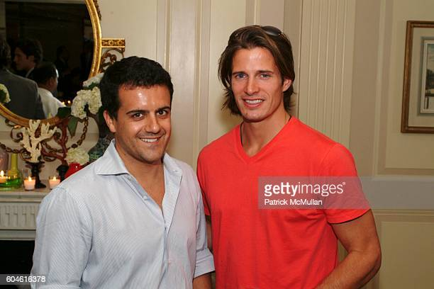 Amedeo Scognamiglio and Lane Carlson attend PaperCity Magazine host a cocktail reception honouring Ken Downing at The Carlyle on June 6 2006 in New...