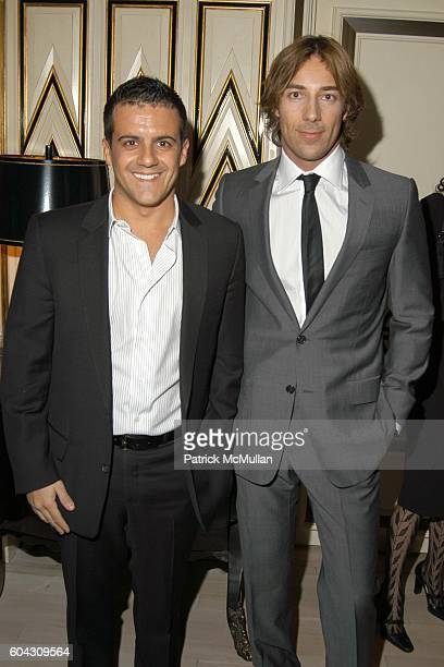 Amedeo Scognamiglio and Roberto Faraone Mennella attend BERGDORF GOODMAN and The Italian Trade Commission host a dinner with the Young Friends of...