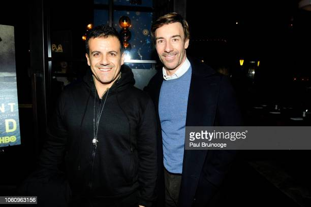 Amedeo Scognamiglio and Roberto Faraone Mennella attend HBO With The Cinema Society Host A Special Screening Of My Brilliant Friend at The Oyster Bar...