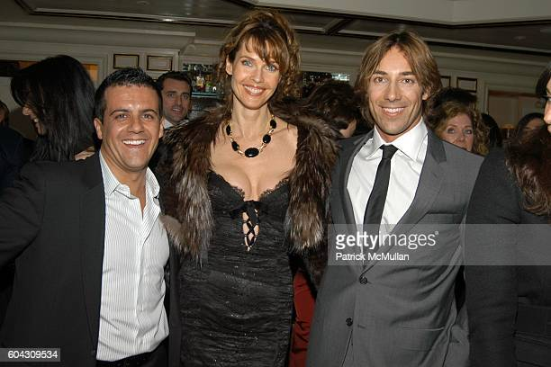 Amedeo Scognamiglio Carol Alt and Roberto Faraone Mennella attend BERGDORF GOODMAN and The Italian Trade Commission host a dinner with the Young...