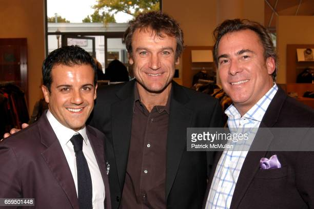 Amedeo Scognamiglio Mats Wilander and Thomas Misisco attend FARAONE MENNELLA at Richards of Greenwich for DebRA Bracelet Unveiling at Richards on...