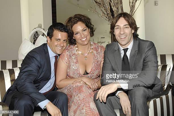 Amedeo Scognamiglio Tia Hoberman and Roberto Faraone Mennella attend CAROLINA HERRERA New York Preview Of The Jewelry Collection Designed for...